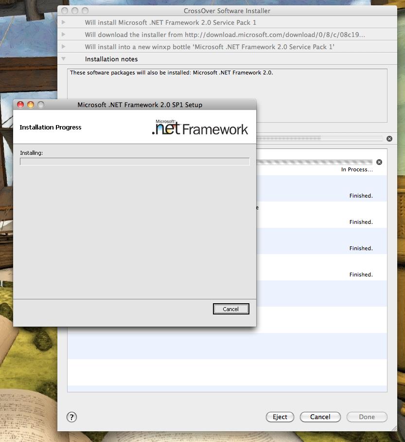 netframework2.0_Microsoft .NET Framework 2.0 Service Pack 1 | What Runs | CodeWeavers