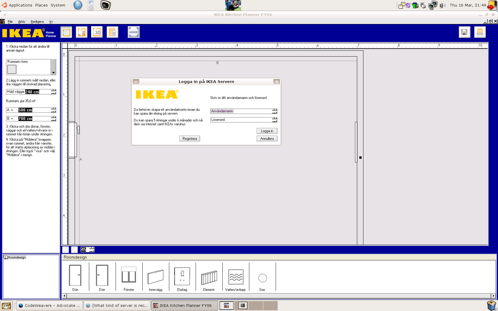 Ikea kitchen planner what runs codeweavers for Tutorial ikea home planner