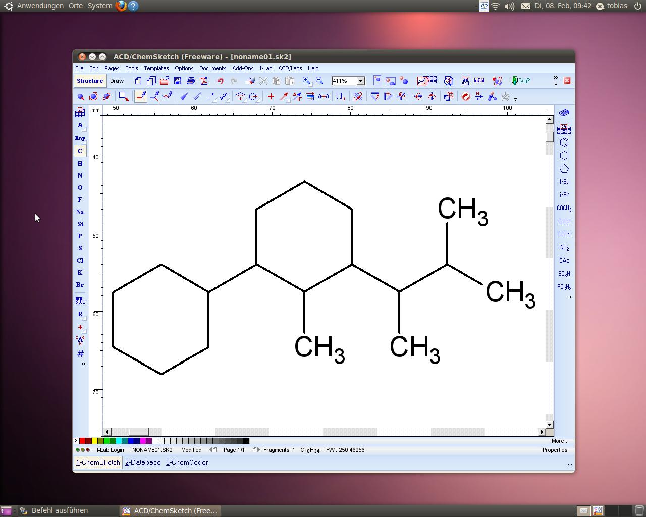chemsketch linux