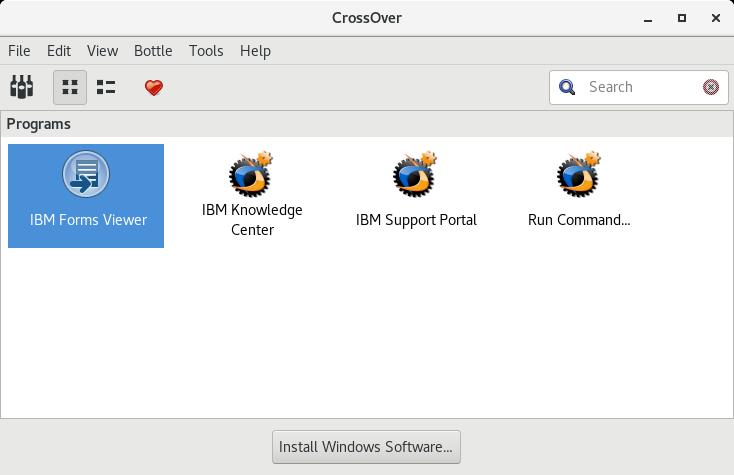 IBM Form Viewer 8 2   What Runs   CodeWeavers