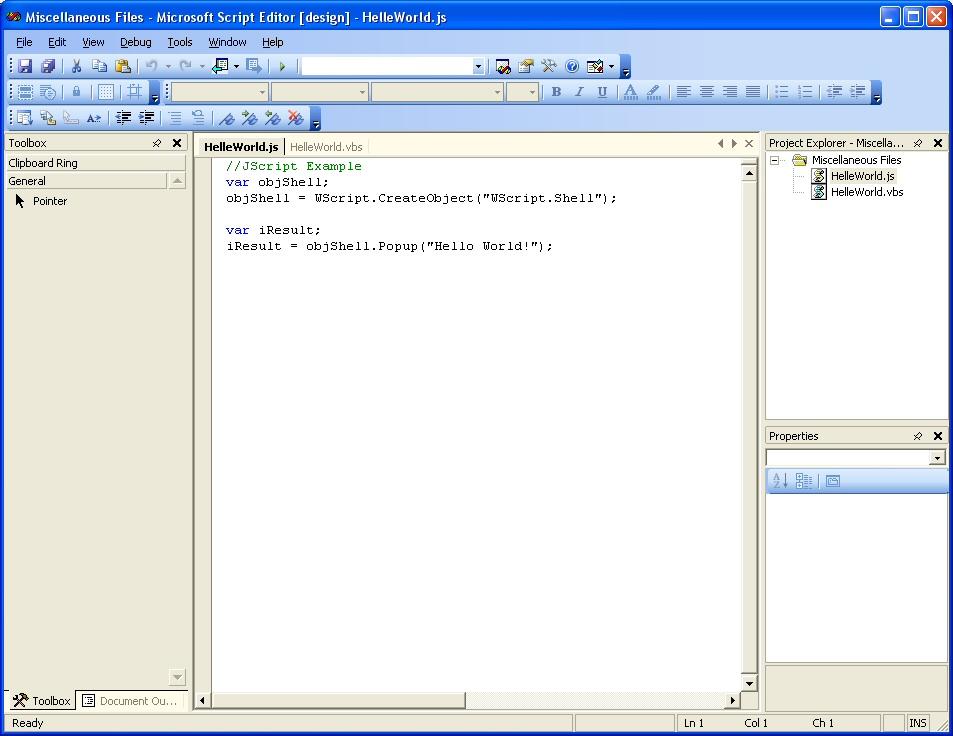 Microsoft Script Editor (MSE7 exe) | What Runs | CodeWeavers