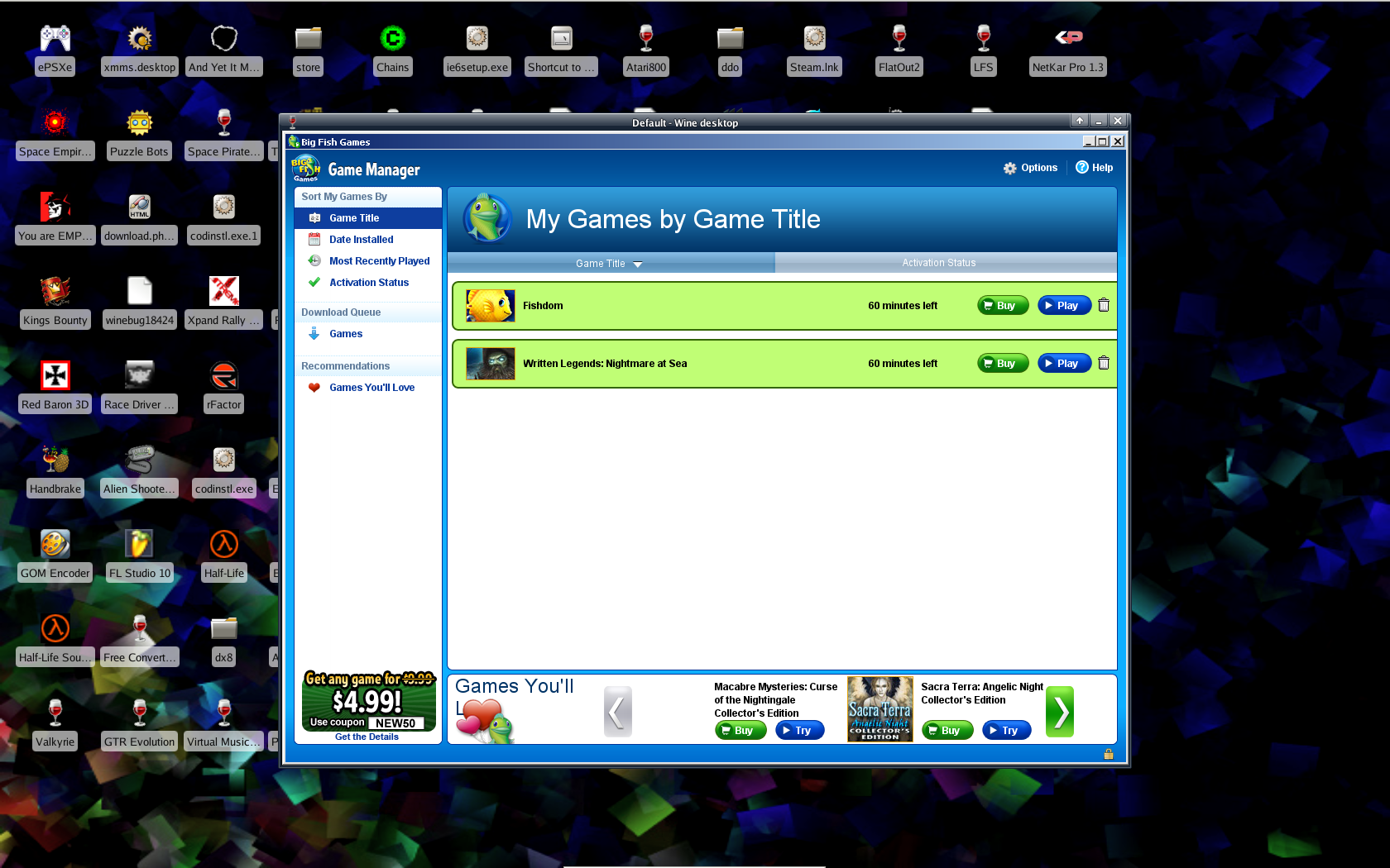 Big Fish Game Manager for Mac - Download