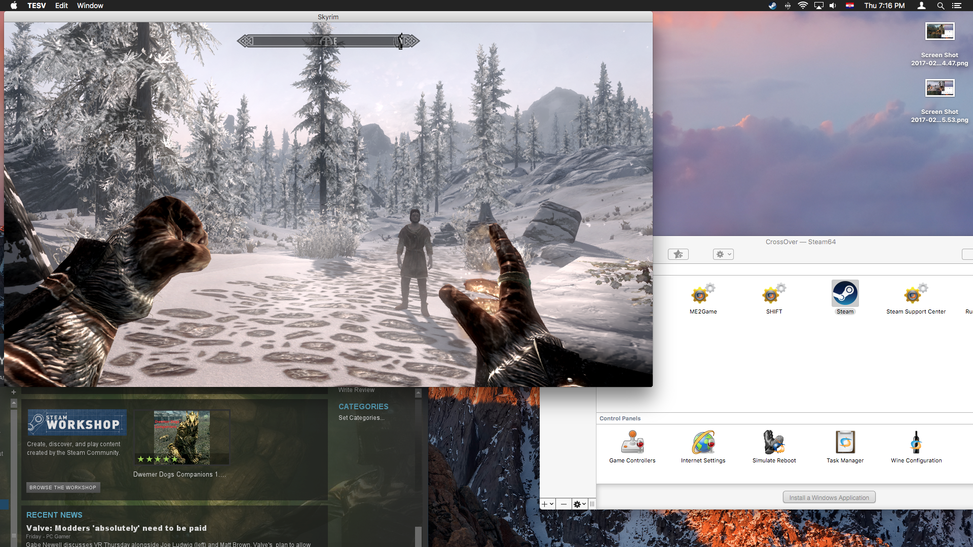 how to run skyrim on mac with steam