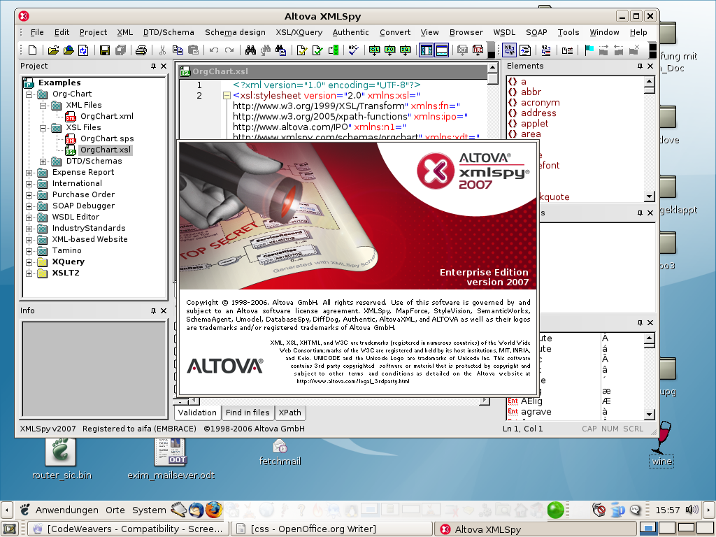 XMLSpy 2006   What Runs   CodeWeavers