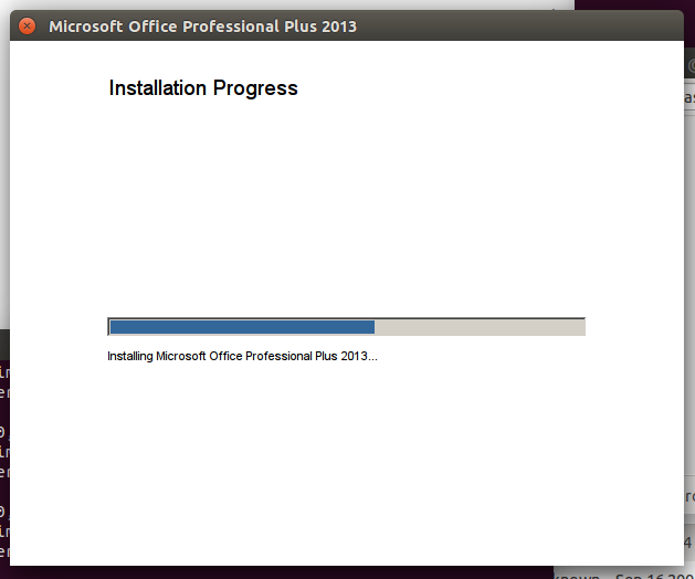 Office 2013 in Wine 1.7.46